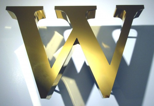 golden-stainless-steel-letter-w