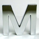 Polished Aluminium Letters