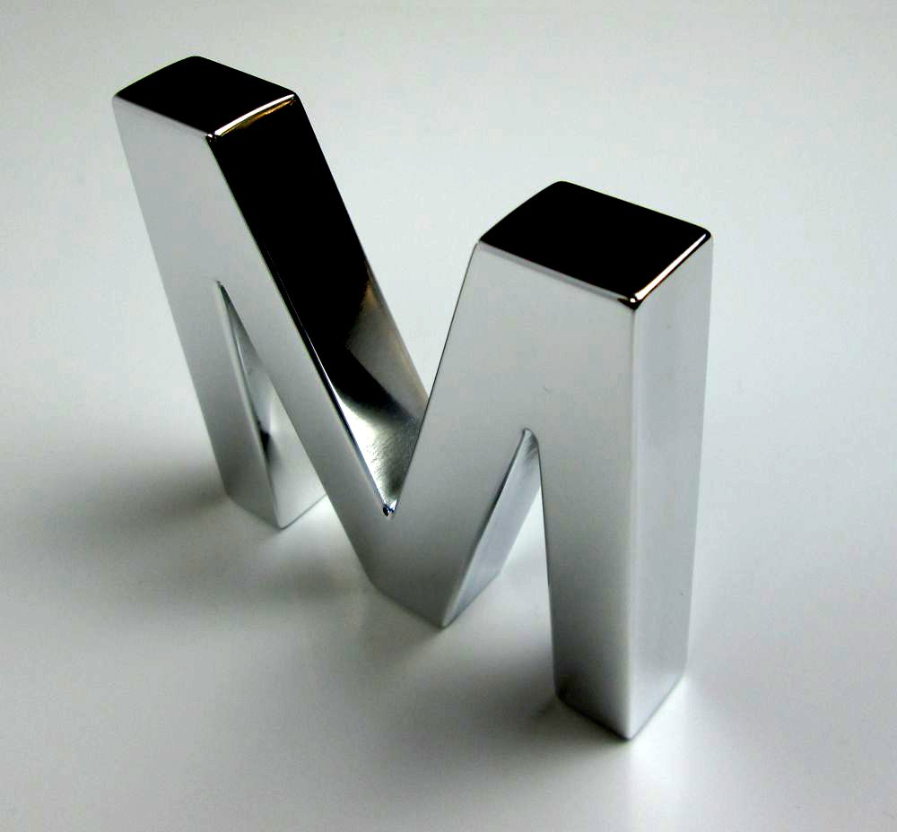 Polished aluminium letters metal letters for Aluminum letters