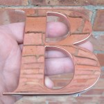 Polished Copper Letters