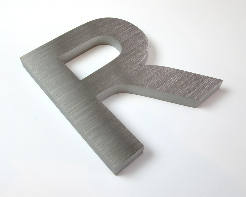 10mm thick Brushed Stainless Steel Letters | Metal Letters