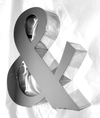 built up stainless steel letters