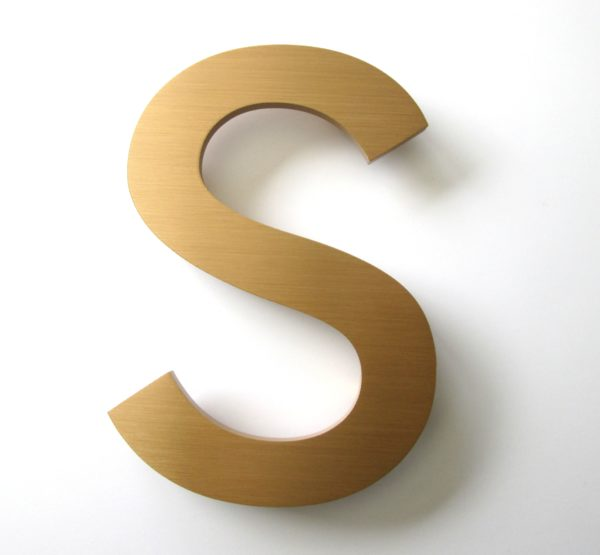 10mm thick bronze letters